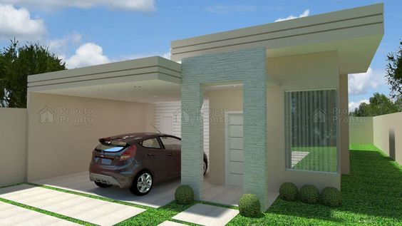 fachadas de casas pequenas con techo mixto
