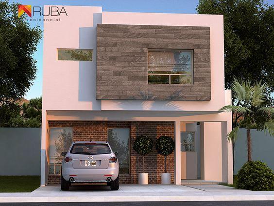fachadas de casas pequenas en tonos terrosos (2)