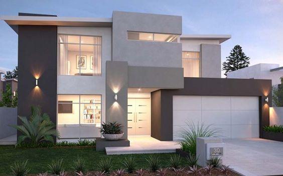 fachadas de casas pequenas en tonos terrosos (4)