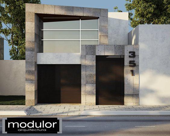 fachadas de casas pequenas en tonos terrosos