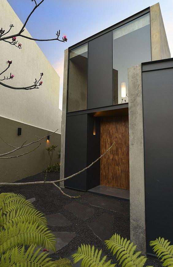 fachadas de concreto pulido