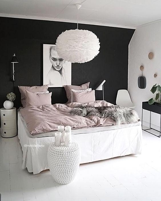 Habitaciones decoradas con color negro
