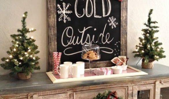 Ideas para una decoración navideña rústica