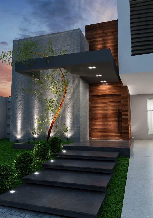 iluminacion de fachadas modernas - Fachadas Modernas De Casas