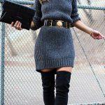 Looks de vestido con botas para el invierno 2017 - 2018