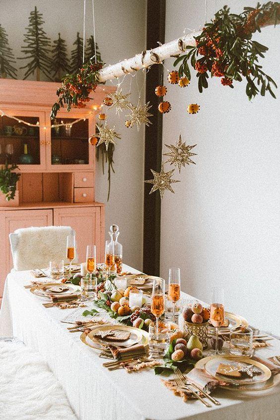 Mesas de navidad estilo rústico