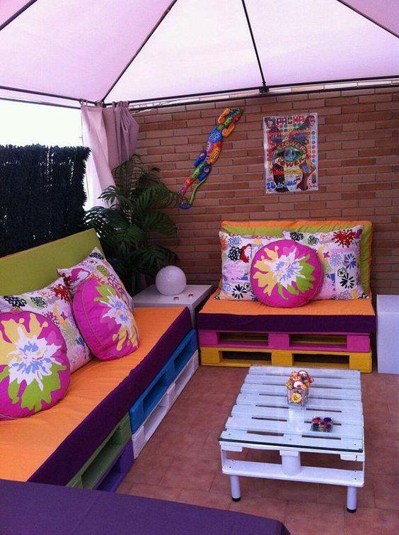 muebles diy para terrazas modernas