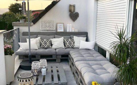 Proyectos para terrazas con palets