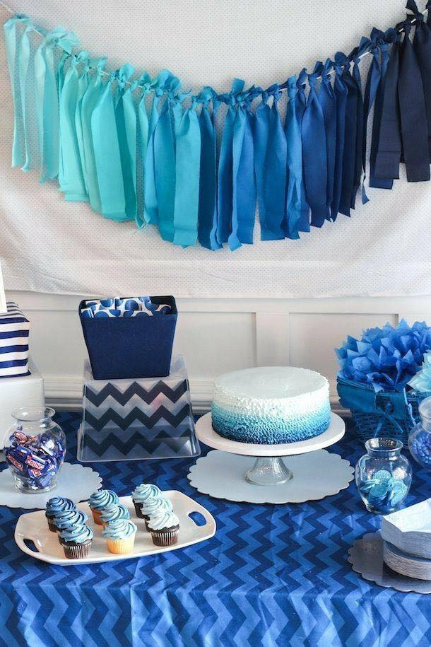 40 Ideas Que Puedes Intentar Para Decorar Un Baby Shower De Nio 24