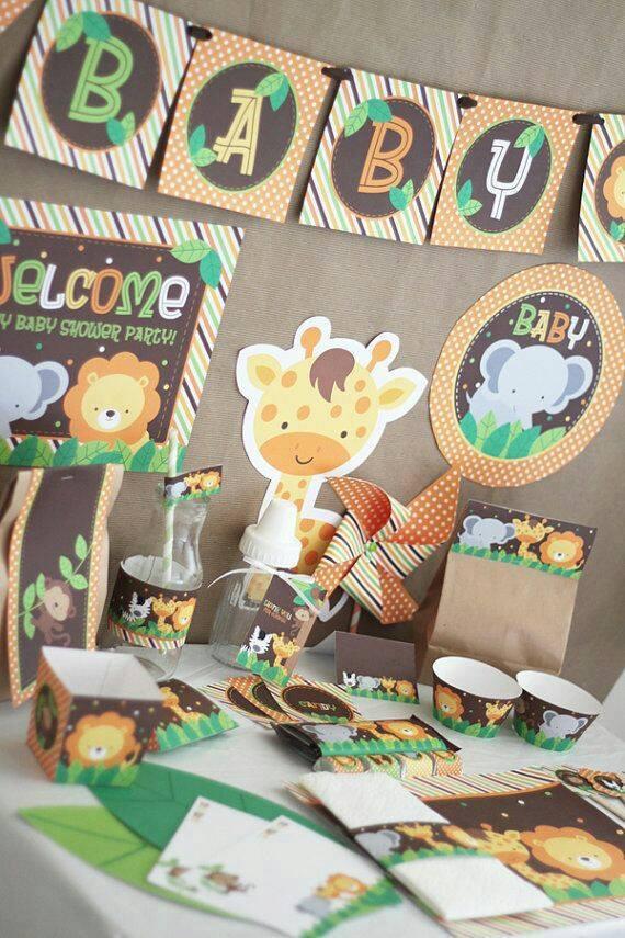 Ideas De Decoraciones Para Baby Shower De Nino.Decoracion De Baby Shower Nino Animales Unpastiche Org