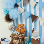 40 ideas que puedes intentar para decorar un baby shower de niño (39)
