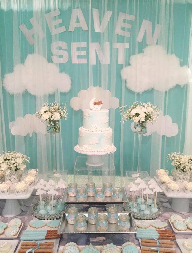 40 ideas que puedes intentar para decorar un baby shower de nino (4)