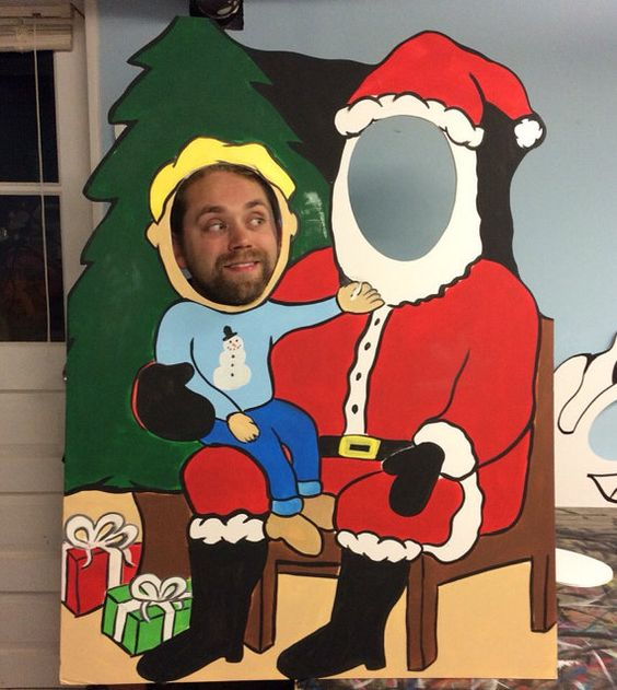Set de fotos para fiesta navideña