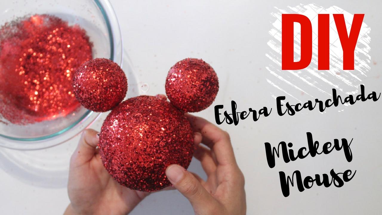 Como hacer una esfera escharchada de Mickey Mouse DIY