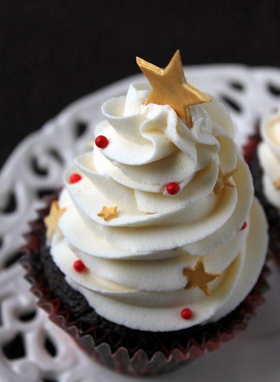Cupcakes con estrellas