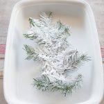 DIY Para Hacer tu Propio Pino Nevado para Navidad