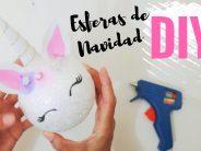 Como hacer esferas navideñas de Unicornio DIY