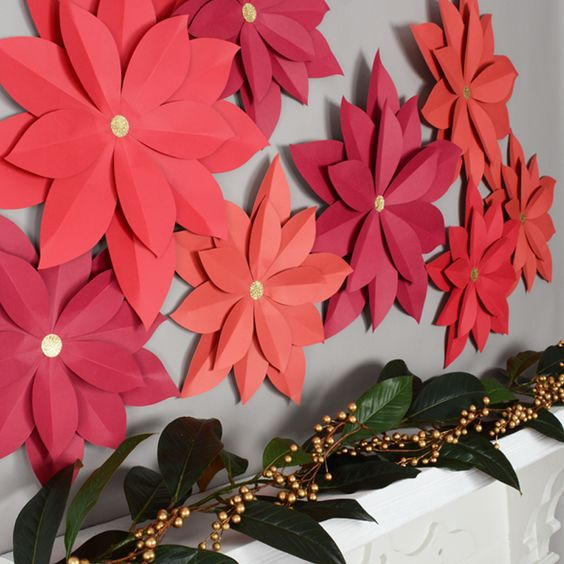 Decoraciones navideñas para la pared