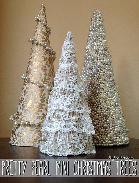 Pinos navideños miniatura