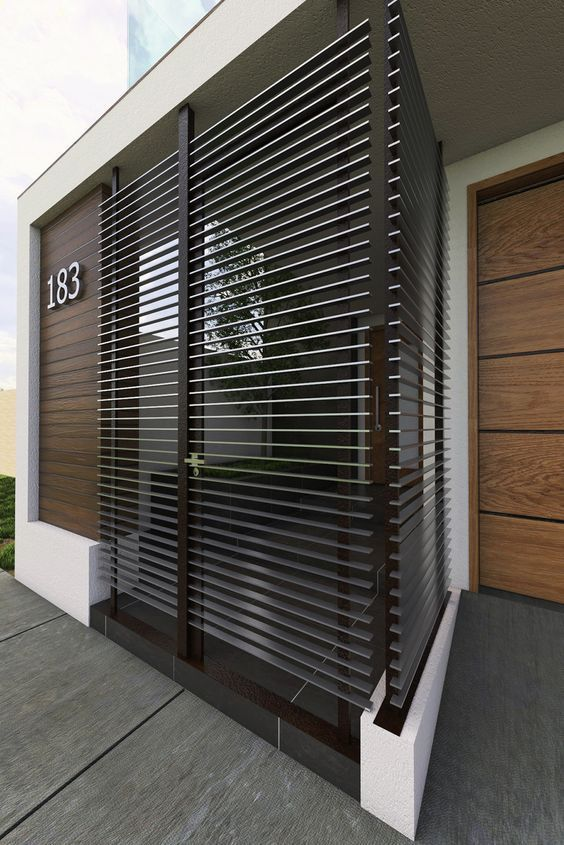 Portones rusticos de madera excellent puertas de exterior - Portones de madera para exterior ...