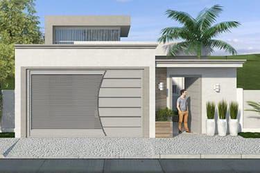 Dise os modernos en portones de herrer a para a adir a tu for Casa moderna 7x20