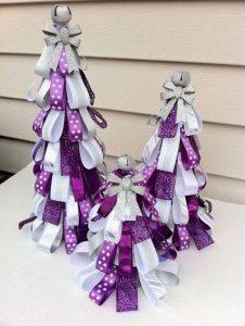 Ideas de decoracion navidena 2017 - 2018 en morado (15)