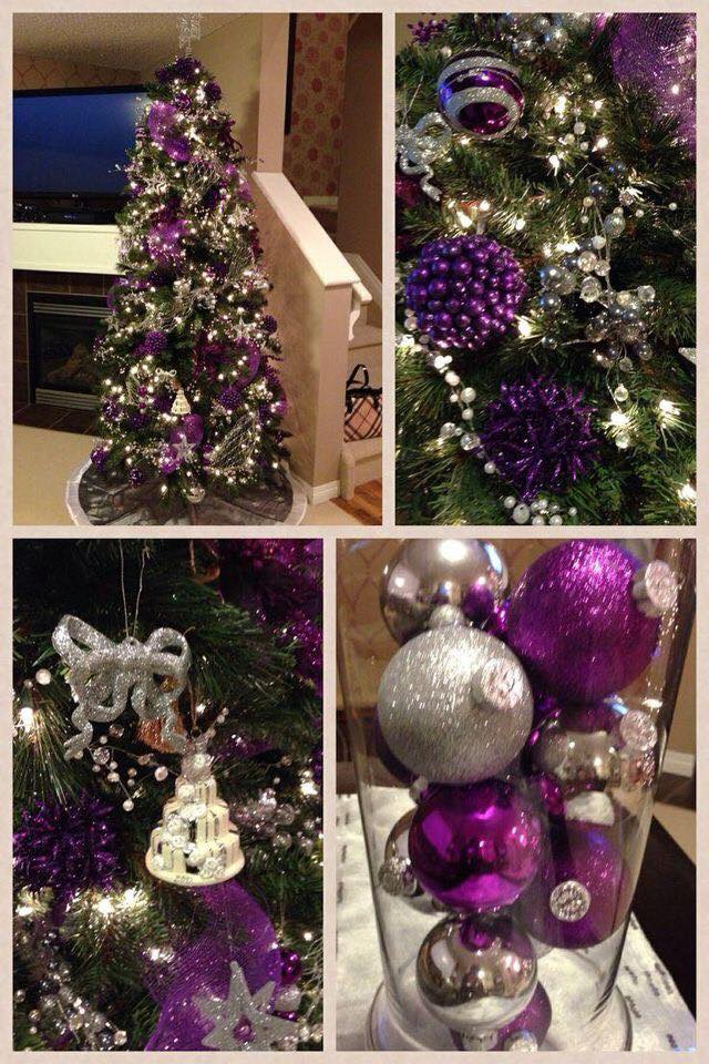 Ideas de decoraci n navide a 2017 2018 en morado 16 - Ideas de decoracion navidena ...