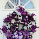 Ideas de decoración navideña 2017 - 2018 en morado (28)