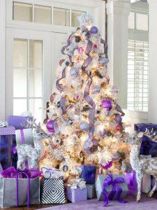 Ideas de decoración navideña 2017 - 2018 en morado (33)