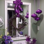 Ideas de decoración navideña 2017 - 2018 en morado (36)