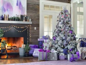 Ideas de decoracion navidena 2017 - 2018 en morado (4)