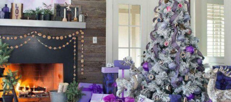 Ideas de decoración navideña 2017 – 2018 en morado