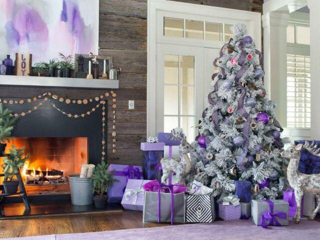 Ideas de decoraci n navide a 2017 2018 en morado for Ideas de decoracion navidena