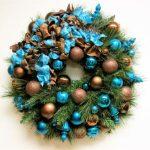 Ideas de decoracion para navidad en verde azulado con cobre (11)
