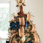 Ideas de decoracion para navidad en verde azulado con cobre (12)