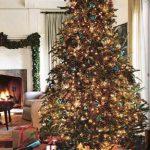 Ideas de decoracion para navidad en verde azulado con cobre (14)