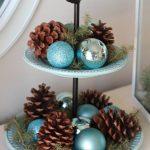 Ideas de decoracion para navidad en verde azulado con cobre (18)