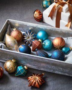 Ideas de decoracion para navidad en verde azulado con cobre (19)