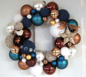 Ideas de decoracion para navidad en verde azulado con cobre (21)