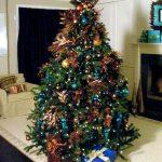 Ideas de decoracion para navidad en verde azulado con cobre (22)