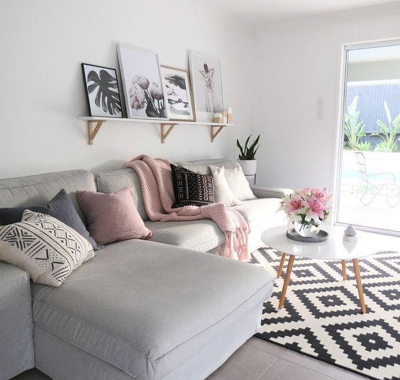 Ideas de decoración para salas de estar (17)
