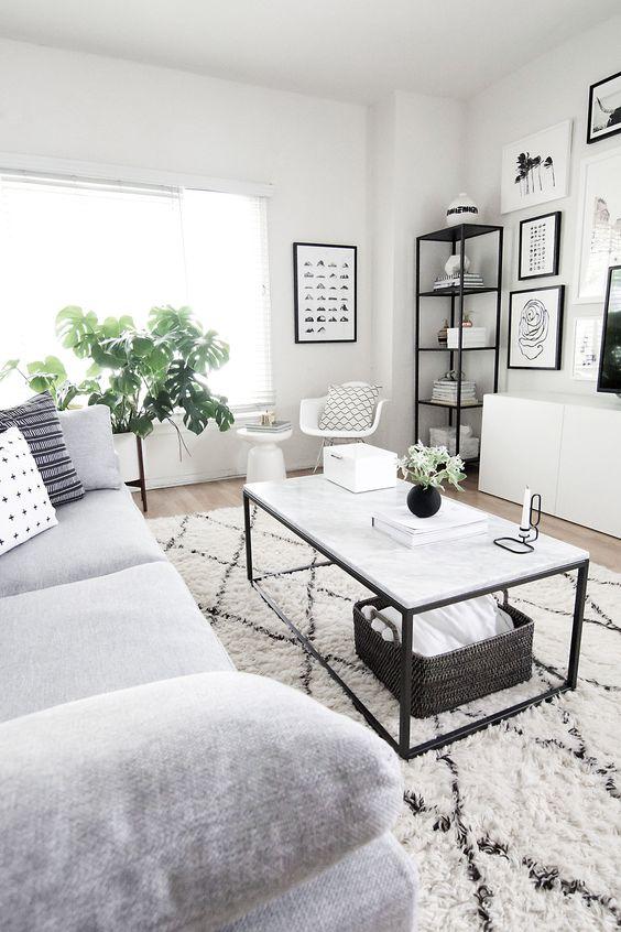 Ideas de decoraci n para salas de estar tendencias 2019 for Idea sala de estar cuadrada