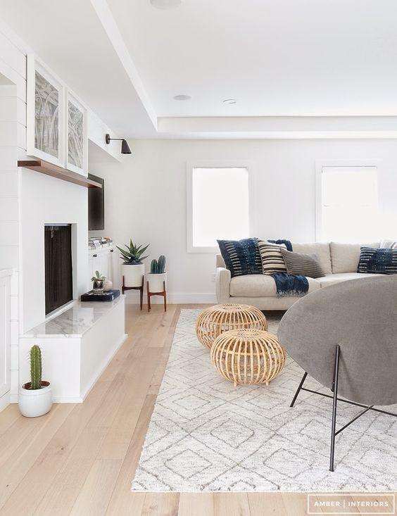 Ideas de decoración para salas de estar (22)