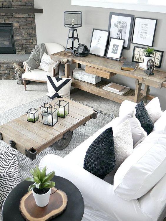 Ideas de decoración para salas de estar (24)