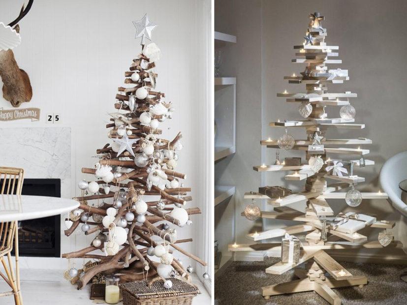 Ideas para rboles de navidad con madera decoracion de interiores fachadas para casas como - Arboles de navidad de madera ...