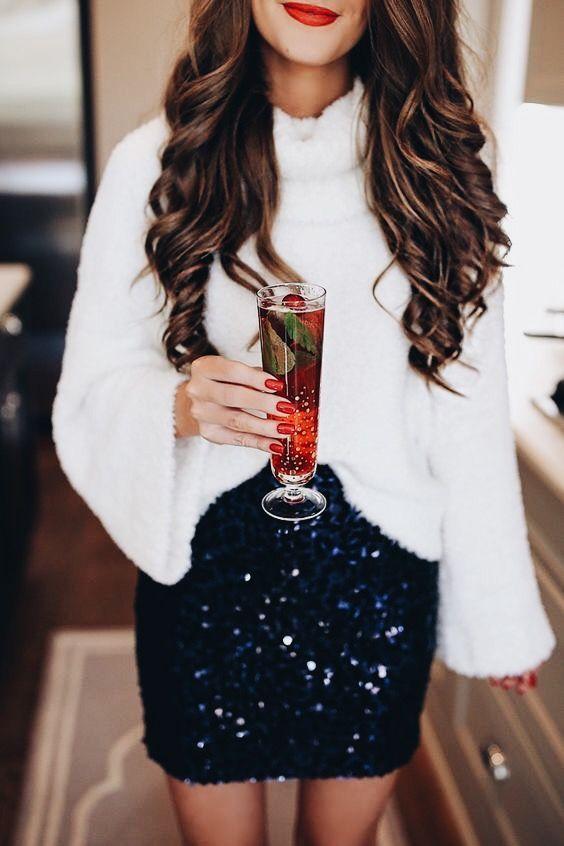 Looks con brillos y lentejuelas para fiestas decembrinas