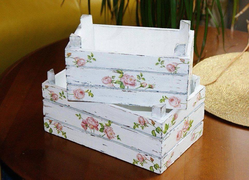 Mas de 39 ideas diferentes para organizar y decorar con - Ideas para decorar cajas de madera ...