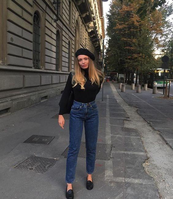 Outfits con boina francesa Tendencia otono - invierno 2017 (13)