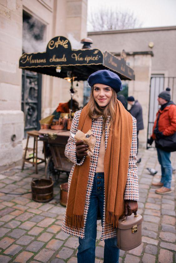 Outfits con boina francesa Tendencia otono - invierno 2017 (15)