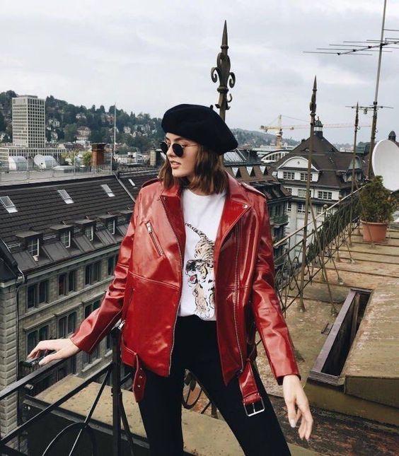 Outfits con boina francesa ¡Tendencia otoño - invierno 2017! (4)